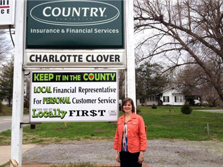 Thanks to Charlotte Clover for her support of Buy Locally!